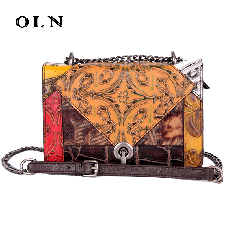 OLN luxury brand Women Bag Handbags Leather Messenger Shoulder Bag High Quality Women Crossbody Bags Female Totes Handbags Bols oln brand 100