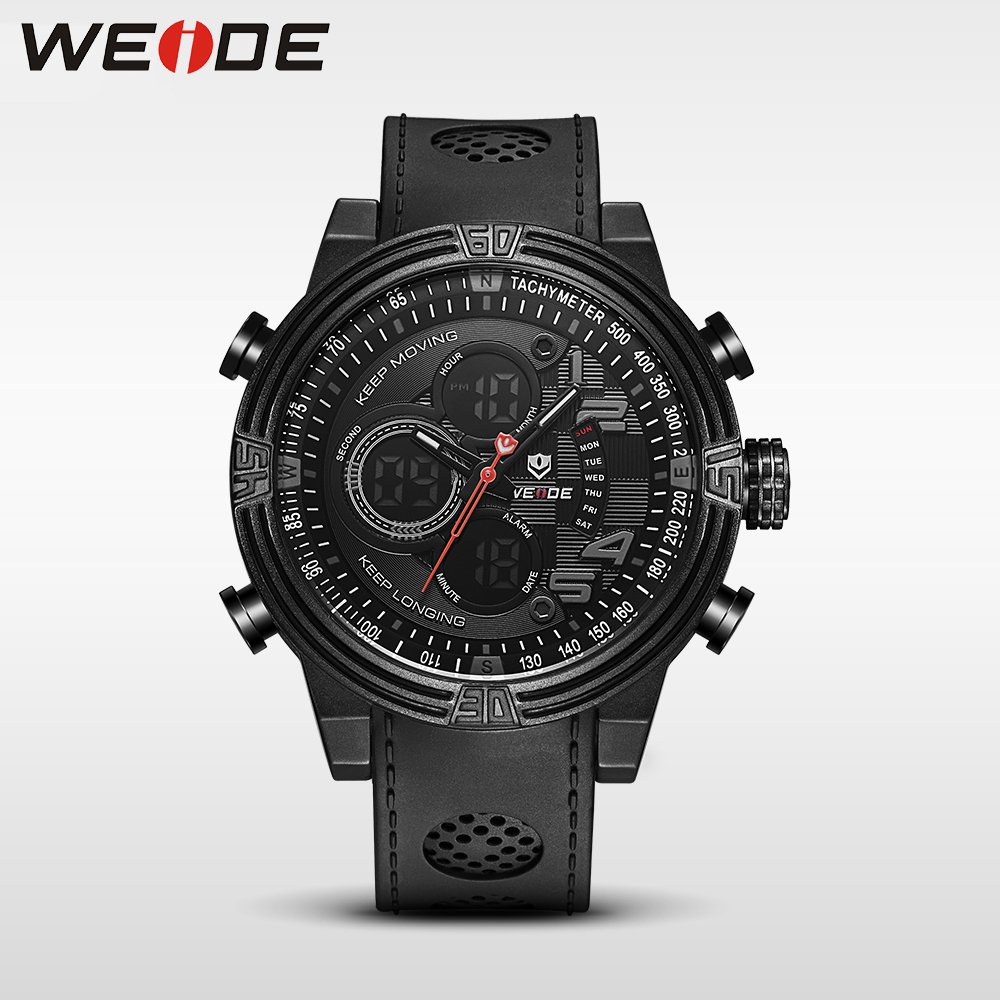 WEIDE  Quartz Casual Watch Army Military Sports Watch Waterproof Back Multiple Time Zone Alarm Men Watches alarm Clock berloques weide casual genuin brand watch men sport back light quartz digital alarm silicone waterproof wristwatch multiple time zone