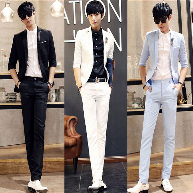 c3593218d0a Summer suit jacket suit men s cultivate one s morality personality marry  the best man suit a thin
