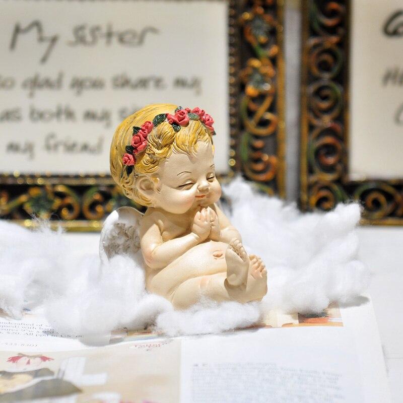 Creative Cute Resin little Angel Ornaments Europe Style Miniature Fairy Figurines Garden Wedding Home Decoration