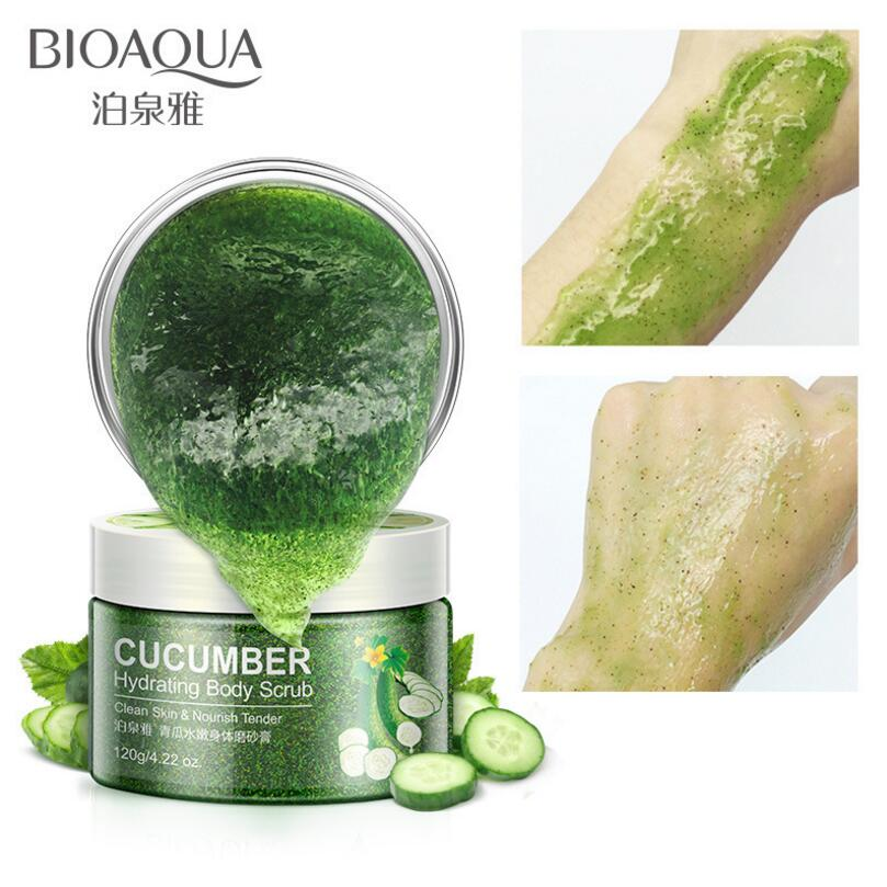 BIOAQUA Natural Organic Body Scrub Exfoliator Exfoliating Cream Moisturizing Whitening Peeling Bath Cream 120g