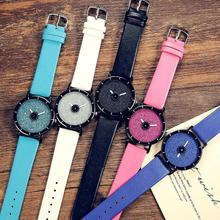 1 pc Coreano Moda Japonês Harajuku Estilo Lady mulheres homens amantes de Relógios Estudante Simplicidade Casal relógios de Pulso Relógio de Quartzo H4