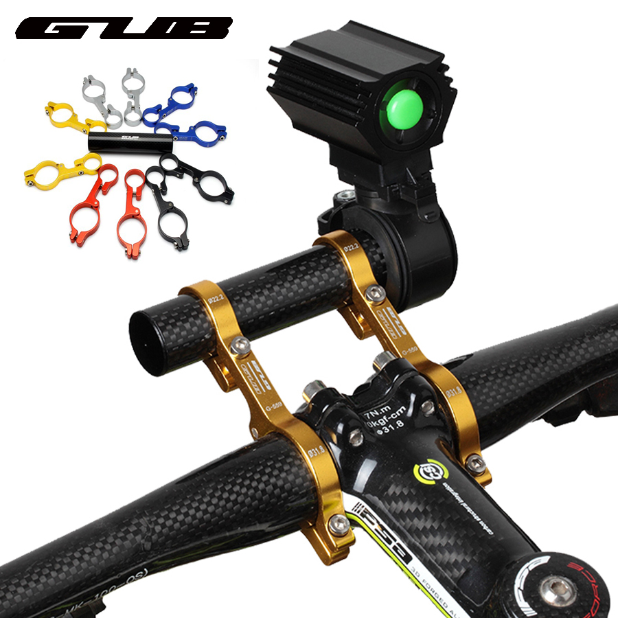 Double Handlebar Extension Mount Mountain Bike Carbon Fiber Extender Holder For Road bicycle Lamp Computer light extended 31.8MM