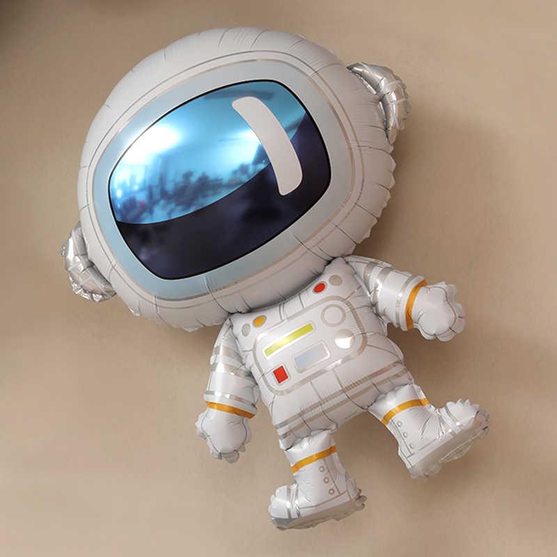 חלל אסטרונאוט רדיד בלון חלל שמח מסיבת יום הולדת קישוט כדור הארץ לחקור להגן על הסביבה נושא ירח