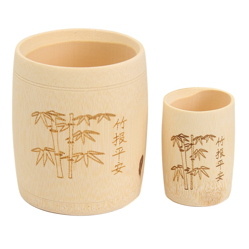 bamboo drinking cup tea bar wooden cups mugs with handgrip coffee tea milk travel wine beer