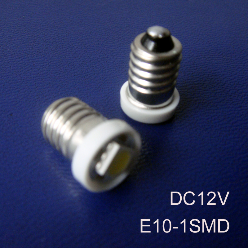 High quality 12V Led E10 Bulbs,Car Led Signal Lights E10,DC12V Led Pilot Lamps E10 Led Indicator Lamp free shipping 1000pcs/lot