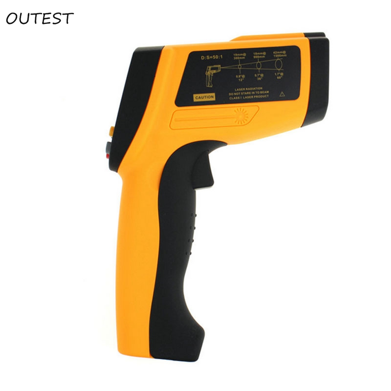 Good Non-Contact 50:1 LCD display GM1350  IR Infrared thermometer Gun Thermometer -18~1350C (0~2462F) 00ms Response Time 1 6 lcd display thermometer