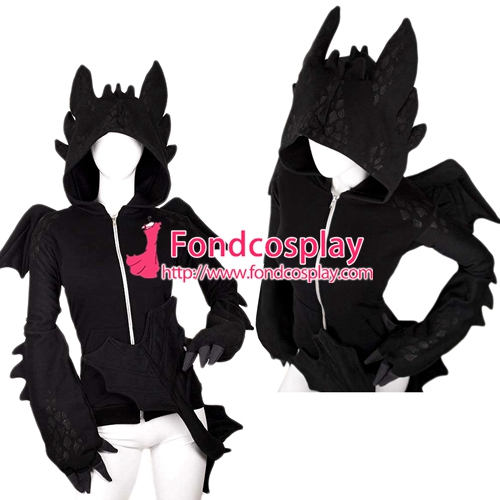 How To Train Your Dragon Nightfury Toothless Dragon Hoodie Movie Cosplay Costume Tailor-made[G1385]