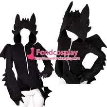 How To Train Your Dragon Nightfury Toothless Dragon Hoodie Movie Cosplay