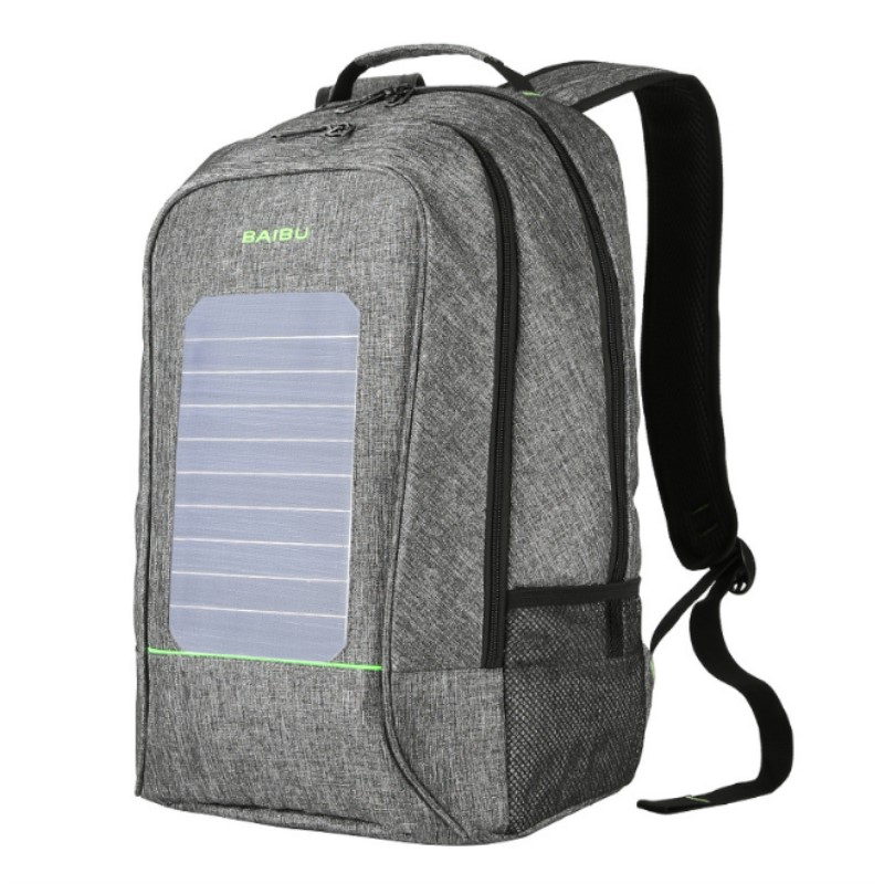 Men Backpacks Solar Charging Anti-theft Backpack Waterproof 16 Inch Laptop Bookbag External USB Computer Bag For Teenagers