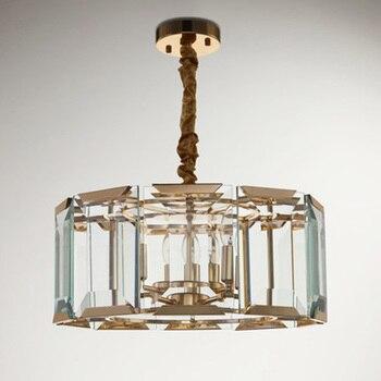 Pós-moderna luz pingente minimalista decorativo transparente superfície de vidro montado lâmpada sala de estar sala de jantar quarto luz pingente