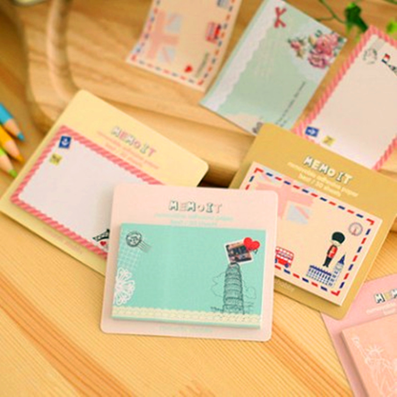 10 pcs/lot new creative NNRTS lovely European and American wind memo pad post-it note posted messages