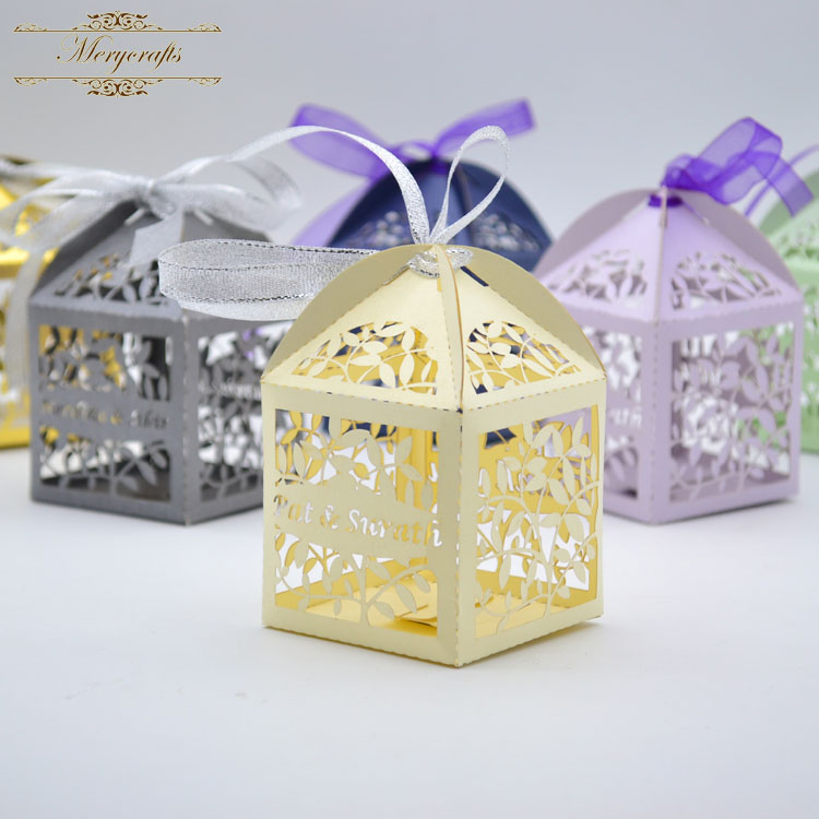 Wedding Gift China: Hollow Out Leaves Wedding Return Gift Laser Cut Favor Box