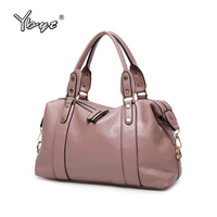 YBYT Brand 2018 New PU Leather Fashion Casual Women Totes Large Capacity Shopping Bag Ladies Travel