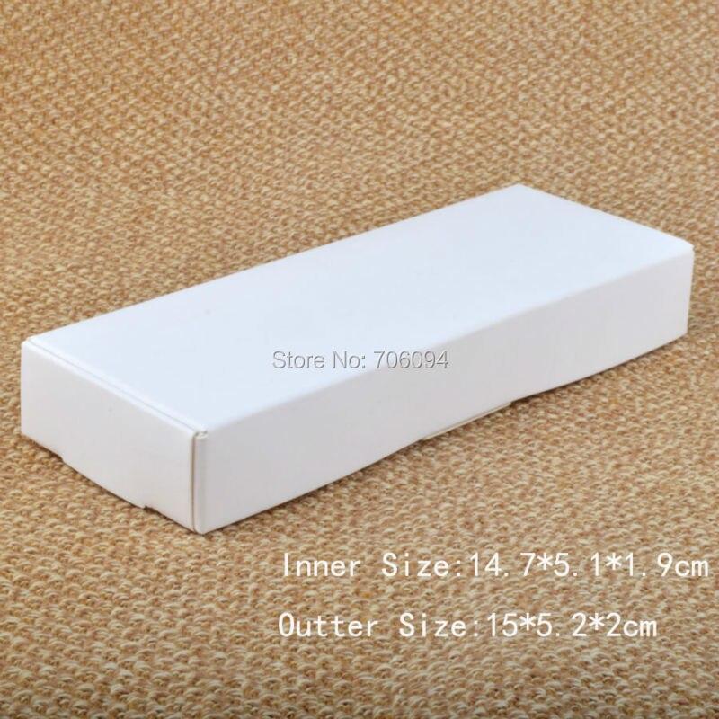50pcs White Gift Packaging Paper Box Event Wedding Candy Chocolate Jewerly Storage Box Handmade Soap Papaer Box 15*5.2*2cm