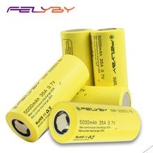 FELYBY 1 5 sztuk o dużej pojemności 5000mAh 3.7V akumulator 26650 bateria litowa do latarek/Solar/UPS/narzędzia elektroniczne