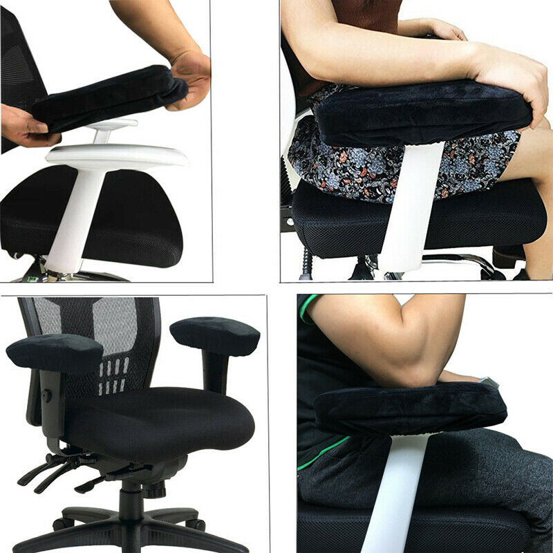 2pcs/set Gaming Chair Armrest Pad Hand Rests Pillow Soft Memory Foam Elbow Pillow Support For Most Chair