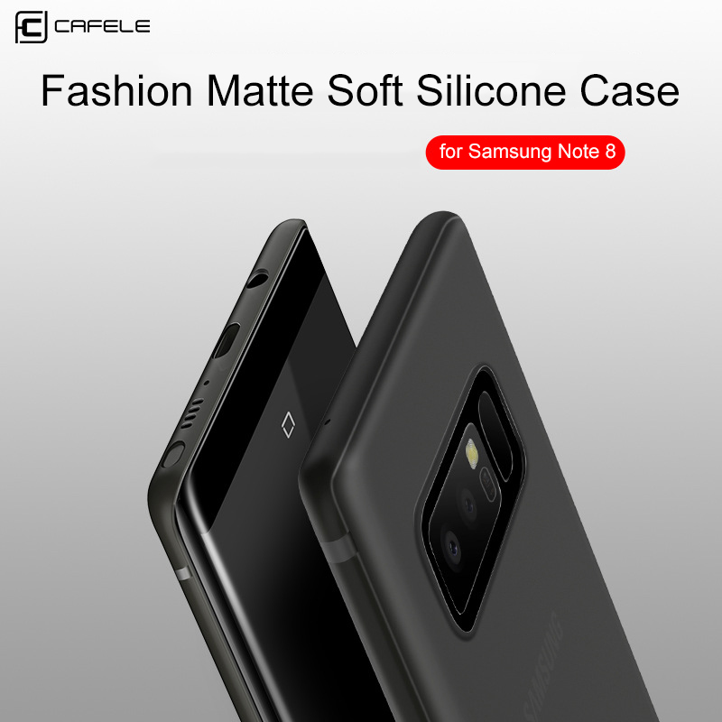 Cafele Case for Samsung Galaxy Note 8 Slim Silicon Soft Back Cover Matte Skin Anti-scratch Grip tpu Housing