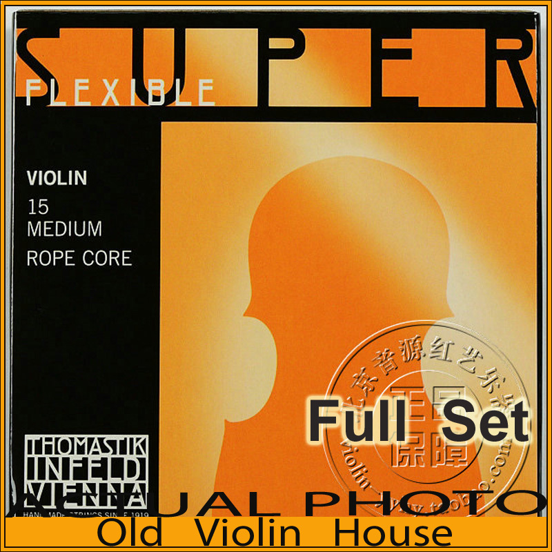 Thomastik  Superflexible (15) Violin Strings , Aluminum E, Full set,made in Austria ,Hot sellThomastik  Superflexible (15) Violin Strings , Aluminum E, Full set,made in Austria ,Hot sell