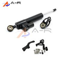 Motorcycle Aluminum CNC Direction Steering Damper Steering Mounting Kit Stabilizer Adjustable for Ducati Monster 696 795 796