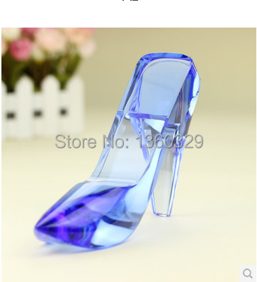 Lustre minnie crafts cinderellas crystal shoe as christmas new year birthday wedding love gift