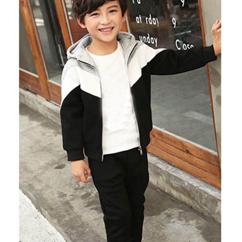 fleece boys clothing sets autumn winter sets hooded coat pants track suits sports little big boys sets children clothes kids set 3pcs children clothing sets 2017 new autumn winter toddler kids boys clothes hooded t shirt jacket coat pants