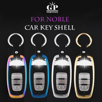 O Envio gratuito de Liga de Zinco Chave Titular Fob Tampa Da Chave Do Carro Caso Chave Chaveiro caso Shell Para Audi A4 B6 B7 B8 A6 C5 C6 Q5 Auto caso