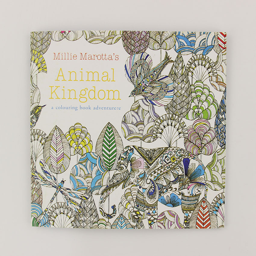 24 Pages Animal Kingdom English Edition Coloring Book For