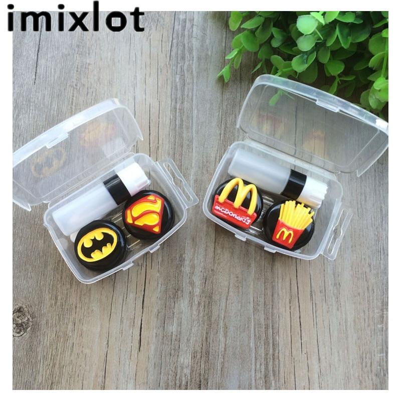 IMIXLOT Fashion Cute Cartoon Potato Contact Lens Case for Eyes Contact Lenses Box Glasses Accessories
