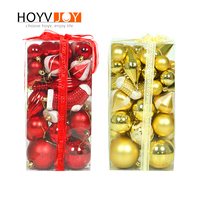 52pcs/lot 60mm Christmas Tree Decor Ball Bauble Xmas Party Hanging Ball Ornament decorations for Home Christmas decorations Gift