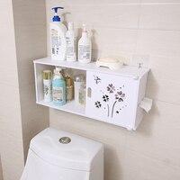OUSSIRRO Bathroom Shelves Wall Hanging Shampoo Cosmetics Storage Rack Wall Partition Waterproof Space Utilization Tissue Box
