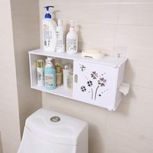 OUSSIRRO Bathroom Shelves Wall Hanging Shampoo Cosmetics Storage Rack Partition Waterproof Space Utilization Tissue Box