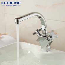 LEDEME Best Quality Brass Kitchen Faucet Pull Out Spray Deck Mounted Sink Mixer Taps Single Handle Faucet Sink Mixer Tap L5884-2