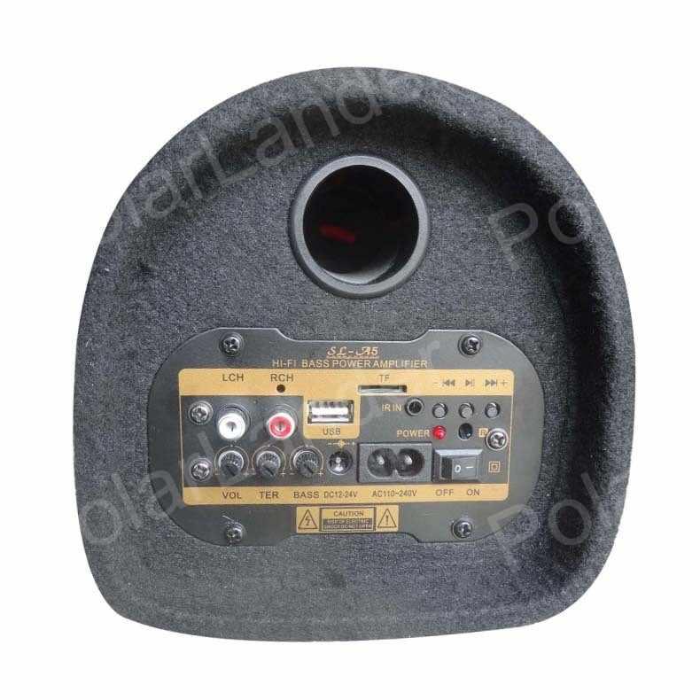 5 pouces tunnel subwoofer 12V 24V 220V voiture subwoofer haut-parleur sauvegarde TF USB remnote contrôle MP3 MP4 DVD