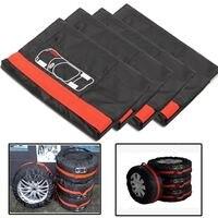 4PCs 13 16 16 20 Universal Car Spare Wheel Tyre Cover Protector Garage Case Auto Car