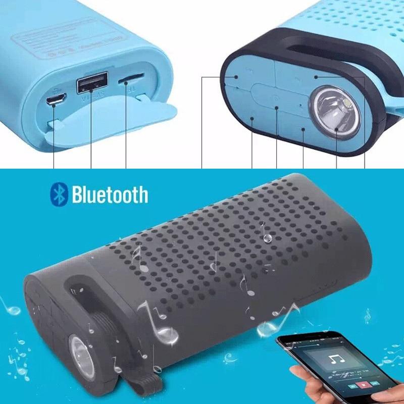 Multifunctional Mini Bluetooth Speaker With LED Flashlight FM Radio TF Wireless Speakers 4400 mAh Power Bank