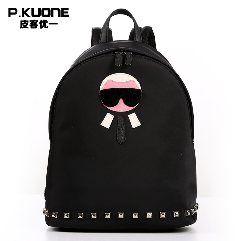 P.KUONE 2018High Quality School Bag For Teenager Girl New Arrived Canvas Women Mini Backpack Famous Brand Shoulder Bag Female