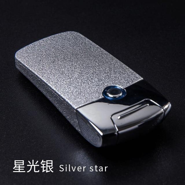 עוצמה USB אלקטרונית נטענת מצית ברזל איש מארוול סיגריות פלזמה סיגר קשת Palse רעם מצית דופק