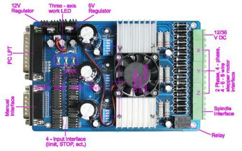 3 Eixo Motorista Board (TB6560) Adaptador Router