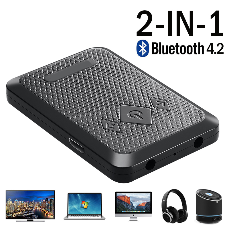 2in1 3,5mm Jack AUX <font><b>Bluetooth</b></font> 4,2 Adapter Wireless <font><b>Bluetooth</b></font> Sender Stereo Audio Musik Adapter Empfänger Für Computer TV image