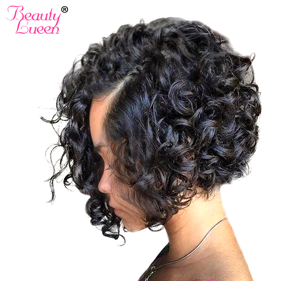 Curly Weave Human Hair Bundles Brazilian Hair Weave Bundles Non Remy Weave Bob Short Hair Extension Can Be Dyed Beauty Lueen