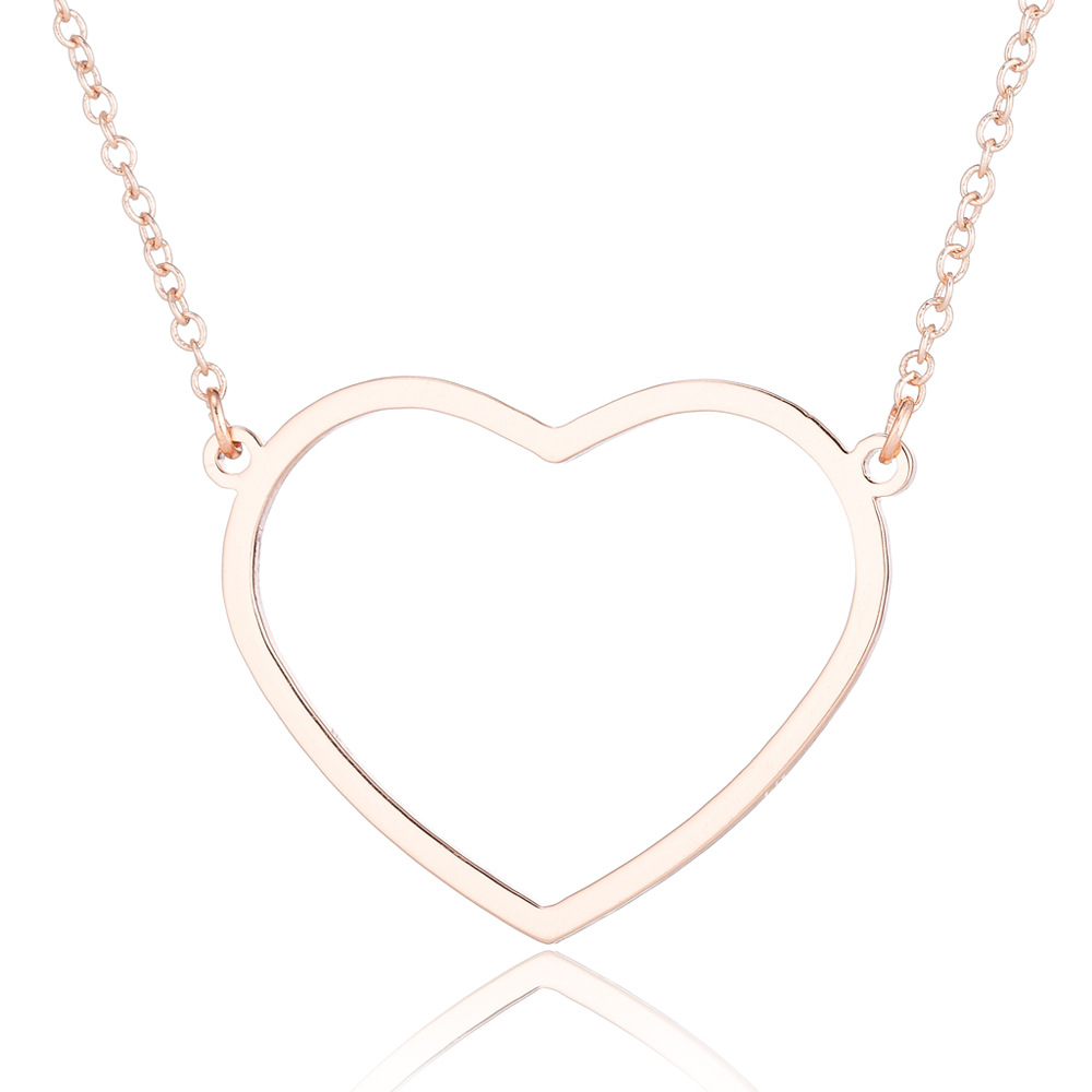 minimalist necklaces & pendants chain choker necklace women heart pendant best friends necklace chocker stainless steel jewelry