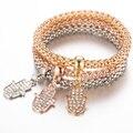 3Pc/set Palm Bracelets Women Rose Gold Crystal Jewelry Woman's Charm Bracelet' Fatima hand Bangle for For Women Jewelry