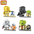 Cabezas figura star wars ladrillos loz mini bloques de juguete conjunto de juguete yoda vader stormtrooper c3po autorizado offical distribuidor