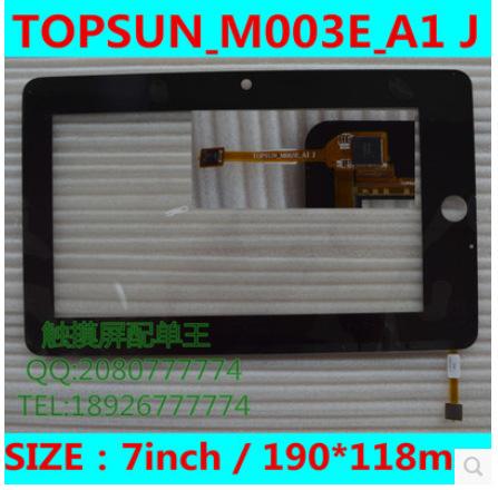 Nueva pantalla táctil capacitiva de la tableta de 7 pulgadas TOPSUN_M003E_A1 J envío gratis