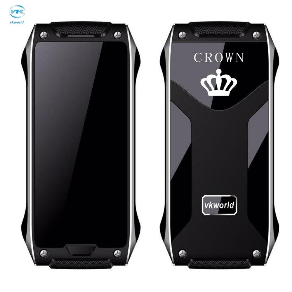 Цена за Vkworld корона v8 мобильный телефон 1.63 дюймов oled экран dual sim GSM 2 Г Мобильного Телефона ИК blaster Металлический Каркас 4.9 мм Тонкий Bluetooth FM