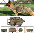 Army Tactical Dog Vests Outdoor Military Dog Clothes Load Bearing Harness SWAT Rescue Harness Protection Training Molle dog Vest