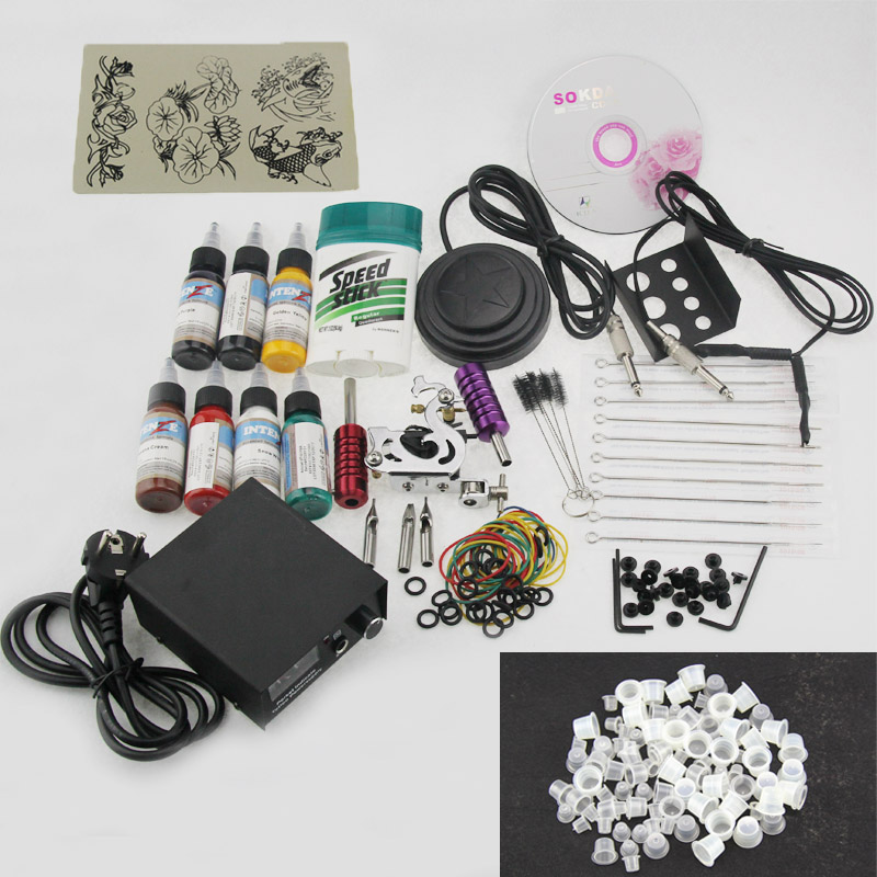 Professional Tattooes Set Guns Inks Kit Tattoo Complete Machine Rotary Power Supply Body Art Tattoo Kits  HB88 весна весна кукла интерактивная саша 1 озвученная 42 см