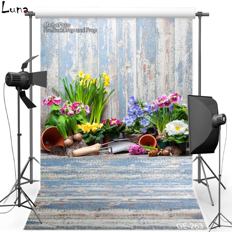 MEHOFOTO Happy Easter Vinyl Photography Background For Wood Wall Flower New Fabric Flannel Backdrop For photo studio Props 263 shengyongbao 300cm 200cm vinyl custom photography backdrops brick wall theme photo studio props photography background brw 12