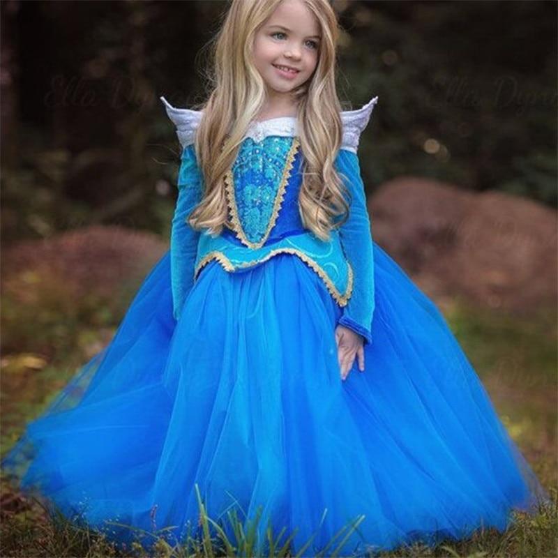 HTB1glmtAk9WBuNjSspeq6yz5VXaL Aladdin Fairy Princess Costume Rapunzel Princess Dress Halloween Carnival Aurora Cosplay Dress up Kids Baby Anna Elsa Dresses